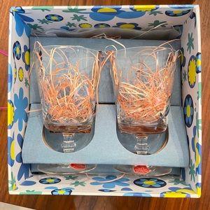 Hand cut lead crystal cups